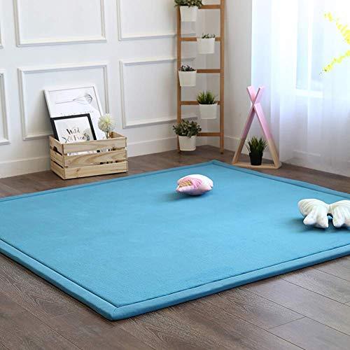 Aishankra Verdicken Weich Kinder Krabbeln Rutschfeste Tatami Teppich Startseite Weiche Teppiche Schwammmatte Spieldecke,G,4\'9\'\'X6\'6\'\'/150X200CM