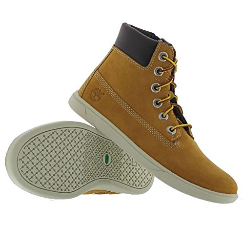 Timberland  Groveton_groveton 6in Lace With Si, Sneakers Basses mixte enfant Braun (Wheat)