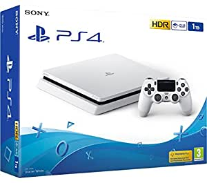 ps4 slim 1to blanche playstation 4 console 1to blanche slim jeux vid o. Black Bedroom Furniture Sets. Home Design Ideas