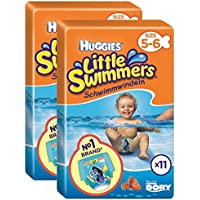 Huggies Little Swimmers Size 5-6 Nappies - 2 x Packs of 11 (22 Nappies) - ukpricecomparsion.eu