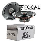 Lautsprecher Boxen Focal ICU165 | 16cm 2-Wege Koax Auto Einbauzubehör - Einbauset für Ford Fiesta MK7 Front Heck - JUST SOUND best choice for caraudio
