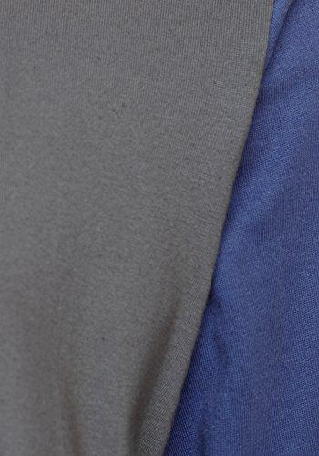Herren Nachtwäsche PJ Pyjama Satz Lange Ärmel Schlafanzug Nacht Tragen 100% Baumwolle Marine Blau / Heidegrau