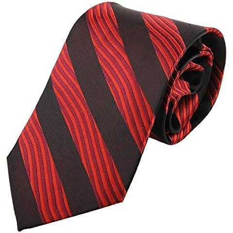 Andonger Rosso Nero Stripe seta tessuta cravatta del legame