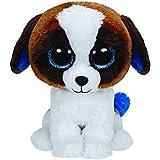 TY - Duke, peluche perro San Bernardo, 23 cm, color blanco y marrón (37012TY)