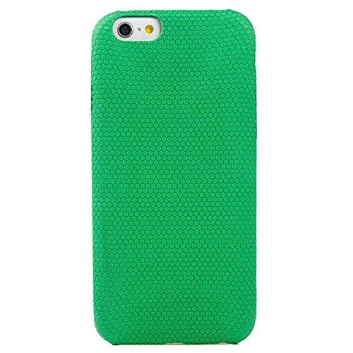 wkae Schutzhülle Case & Cover Fußball Textur Langlebig Weich TPU Schutzhülle aus Kunstleder für iPhone 6& 6S Green