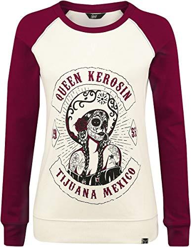 Kerosin Rojo Blanco Mexico M Queen Tijuana Sudadera n0PX8wOk