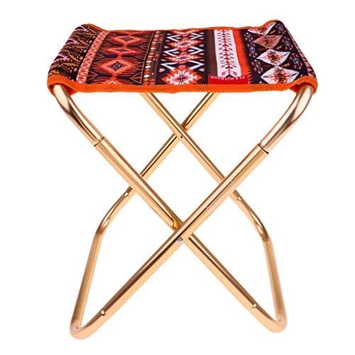 Homyl Klappbarer Campingstuhl, ultraleichter Faltbarer Strandstuhl - Tragbarer Outdoor Stuhl, Max.150kg - Orange