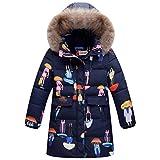 LSERVER-Mädchen Junge Süß Daunenjacke Winterjacke mit kapuze Down Jacket Bekleidungsset verdickte Winterjacke für Junge Mädchen