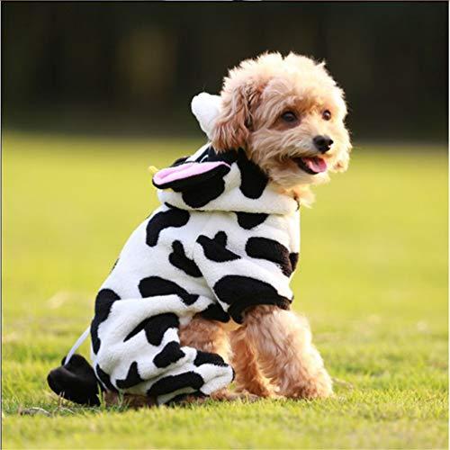 Hund Kleidung Geruchtür Warm Flannel Outfit für Dog Winter Welpen-Puppy Jacke Chihuahua für kleine Dog Hoodies