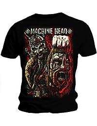 Producto oficial de T-camiseta de manga corta de MACHINE HEAD diseño de pantera sanguinaria Viking GOLIATH todos los tamaños