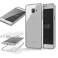 Samsung Galaxy A3 (2016) Housse Urcover [Nouvelle Version] Coque Tactile [Etui 360 Degrés] TPU Fuchsia Transparente Écran Housse Integrale Transparent