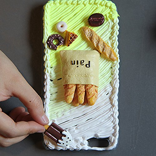 Super cute 3D DIY lovely Cream Series case for iPhone 7PLUS Tomato Toast