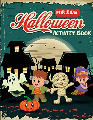 Halloween Activity Book for Kids: Word Search, Connect the Dots, Mazes, Color by Number, and More (Children's Puzzle Books, Band 1)