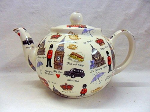 London design Teekanne für 6 Tassen von Heron Cross Pottery.