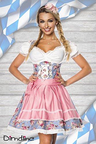 Premium Bluse & Dirndl aus edlem Denim, Größe:S (Traditionelles Dirndl Kostüm)