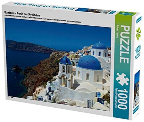 Preisvergleich Produktbild Santorin - Perle der Kykladen 1000 Teile Puzzle quer (CALVENDO Orte)