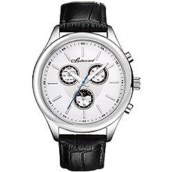 Men's style leather strap watch/Sports waterproof watch/Business mens watch-C