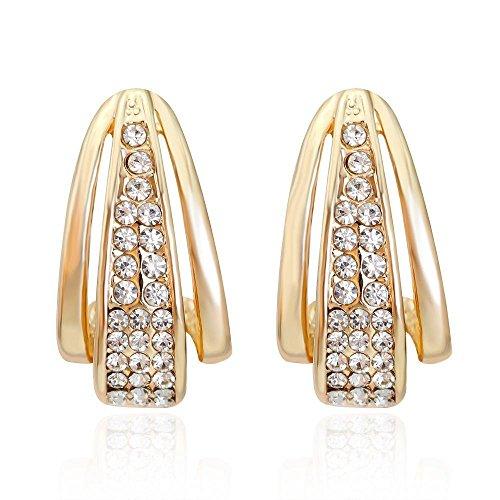 JunBo Kreative Dame Ohr Nägel Temperament Minimalistischen Legierung Ohrringe Hundert-Runde Ohrringe (Ohrringe Diamanten Runden Männer)
