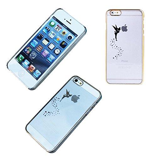 Hard Case für Apple iPhone 5 5S Tasche Schutz Hülle Schutzhülle Bumper Cover Bag, Farben:Türkis Gold