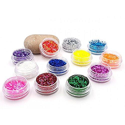Creafirm 12 Boîtes de Paillettes Multicolores en PVC