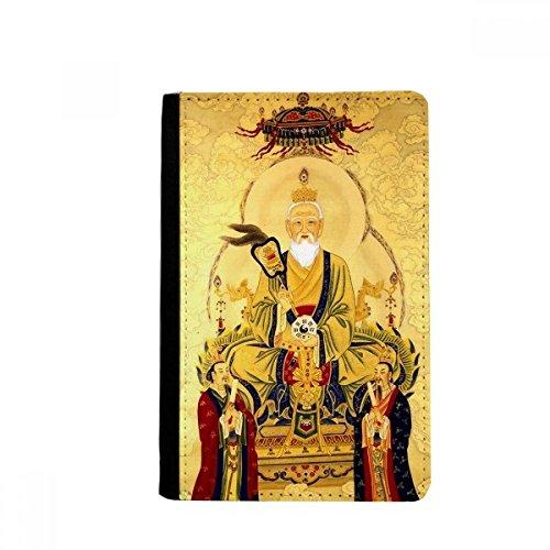 beatChong Dao Religion chinesischer Gott Pass-Halter-Reise-Brieftasche Abdeckungs-Fall Karten-Geldbeutel 3.7 inch x 5.8 inch Mehrfarbig -