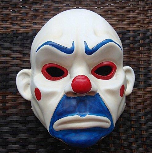 (singlestopshop 2015 – Hochwertige Harz-Maske Joker Bank Räuber Maske Clown Batman Dark Knight Joker Erwachsene Manuelle Requisite Film Figuren Dress Up Kostüm)