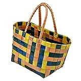 LaFiore24 Grosse original Shopper Einkaufstasche Einkaufskorb Badetasche Strandtasche abwaschbar...