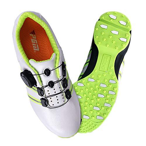NAMENLOS Scarpe da Golf Junior per Bambini Unisex Scarpe da Ginnastica per la Massima Resistenza e Comfort Scarpe da Ginnastica per Adolescenti Traspiranti e Anti-sliplip,White,35
