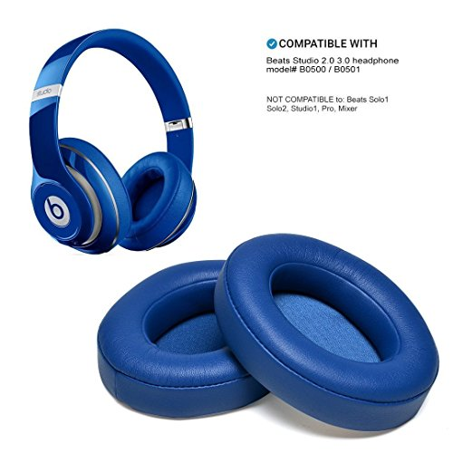 WADEO Beats Studio Wireless Ohrpolster Blau Ersatzohrpolster Kopfhörer Ohrkissen (Studio Wireless Zubehör Beats)