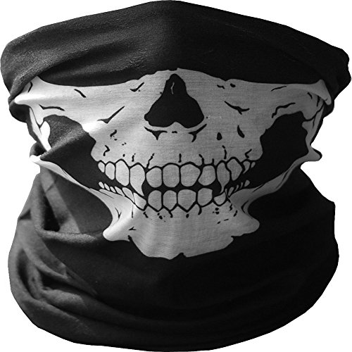 Pellor Multifunktional Schädel Bandana Snowboard Skifahren Motorrad Biking Hals Paintball Gesichtsmaske Stirnband Gesichtsschutz Masken (Schwarz)
