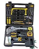 SINBROL 22 PC Multi Haushalts-Werkzeugkoffer Werkzeugset Werkzeugsatz Elektrowerkzeuge DIY Reparatur Werkzeuge Kits Set Inkl. Hammer Schraubendreher Schraubenschlüssel-Set für Garage Auto...