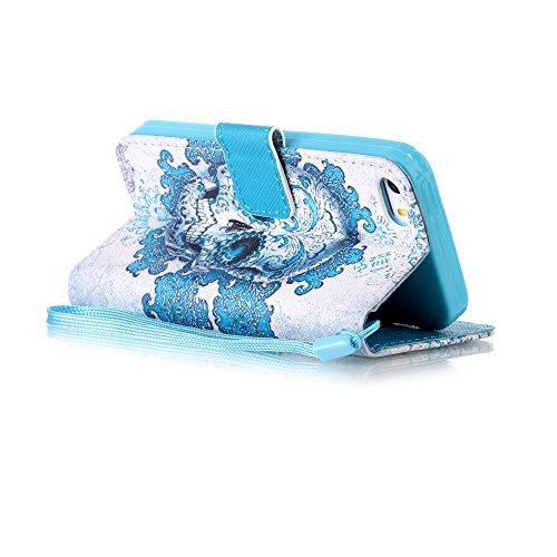 Custodia per iPhone 5S/iPhone SE/iPhone 5,BtDuck Libro Stand Case Cover in PU pelle Borsa e Portafoglio Tasca Ultra Sottile Morbido Silicon Gel Back Case Bumper Cover Custodia in Premium PU Pelle per  #8
