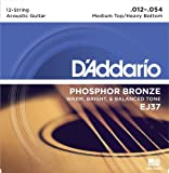 Best D'Addario Acoustic Bass Guitars - D'Addario EJ37 Phosphor Bronze Medium Top/Heavy Bottom (.012-.054) Review
