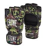 León 1947camuflaje guantes MMA, Unisex adulto, Camouflage, Verde Mimetico