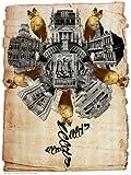 onthewall Leeds Rose Poster Kunstdruck von Cash Camel