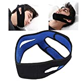 TMISHION Sangle Anti-ronflement, arrêtez Le ronflement Bandeau Soutien de la mâchoire Ceinture de Levage faciale Solution de ronflement Brace for Men Women Relief Snore Stopper Sleep Aid