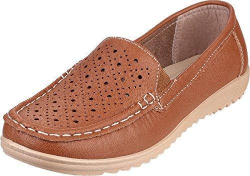 Amblers Cherwell-Brun Léger Chaussons mocassins pour chaussures à enfiler - M...