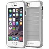 Anker Ultra Schützendes Case mit Eingebautem Clear Displayschutz iPhone 6S Plus iPhone 6 Plus (5.5in) Fallgetestet, Staubdichtes Design (Weiß/Grau)