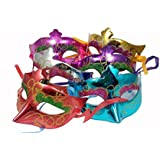 MVR Traders Eye Mask For Halloween/ Xmas Party,Birthday Party/Adult Party For Men And Women Masquerade Ball Mask Venetian Party (Pack Of 6)