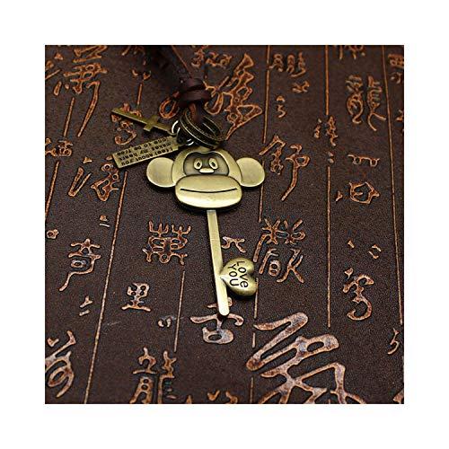 Styliee bracelet Armband Armreif, Schmuckgeschenk, Handmade Fashion Necklace Key Pendants Wings Leather Vintage Necklace for Men Necklace Women as picture12