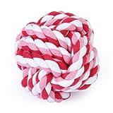Haustier Hund geflochtenes Baumwoll Seil Knoten kauen Spiele Spielzeug