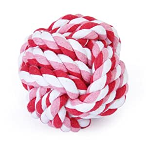9cm Pet Dog Braided Cotton Rope Knot Ball Chew Toys Teeth Cleaning Ball---Random Color