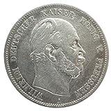 orig. Silbermünze 5 Mark 1874 A Preußen Wilhelm I - erstes Prägejahr - Kaiserreich