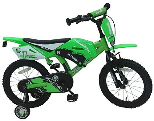 Bicicleta-de-nio-4-5-6-aos-de-16-pulgadas-de-motocross-con-las-ruedas-verdes