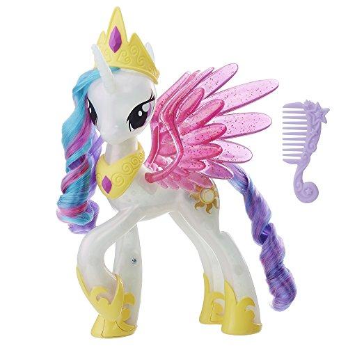 Hasbro My Little Pony E0190EU4 Movie Leuchtzauber Prinzessin Celestia, Puppe