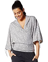 Zumba Fitness Damen Top Wrap Me Up Cropped Hoodie