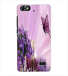 ColourCraft Water Drops on Leaf Design Back Case Cover for HUAWEI G PLAY MINI