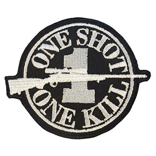 Sniper Hook-and-Loop Écusson Patch ONE SHOT ONE KILL Morale Camo Uniform BDU Militaire Milspec