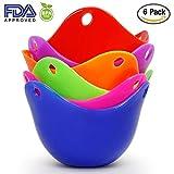 Silikon Ei Pochieren Cups, Guyin 6 Stück Eier Pochierer Silikon Set für Pochierte Eier, Premium Dicke Silikon Ei Poachers in 6hellen Farben