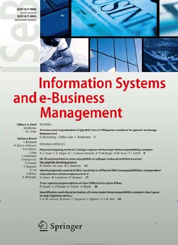 Information Systems and e-Business Management [Jahresabo]